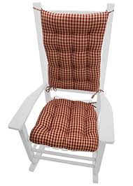 Chair Pads Rocking Chair Cushions Checkers Size