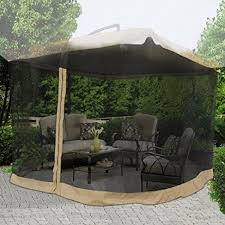 Patio Umbrella With Screen Enclosure Patio Umbrella With Netting Luxury On 9x9 Square 79 H Patio