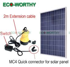 Solar Lights For Ponds by Solar Powered Pump Kit 100w Solar Panel W Water Pump For Garden
