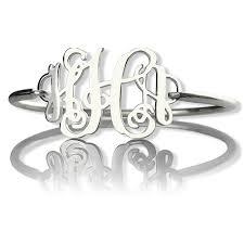 monogram initial bracelet monogram initial bracelet 1 25 inch sterling silver
