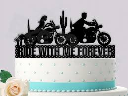motorcycle wedding cake toppers motorcycle ride with me forever wedding cake topper