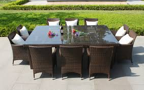 outdoor wicker dining table outdoor dining set with brown wicker chairs and large square glass