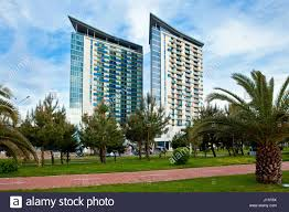 modern buildings and houses in batumi city georgia stock photo
