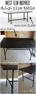 Pipe Desk Diy Diy Pipe Table Tutorial How We Saved 1 800 Designer Trapped