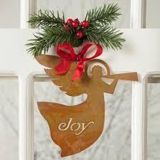joy metal ornament rustic christmas decor