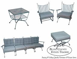 Iron Sofa Table by Woodard Andalusian Vintage Iron Sofa Chairs Tables Patio Set