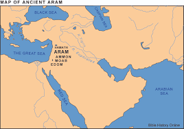A Map Of The Middle East by Map Of Ancient Aram Syria Bible History Online