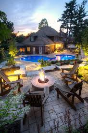 Backyard Fire Pits Designs Sophisticated Outdoor Fire Pit Designs Near The Swimming Pool