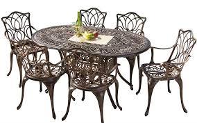 gardena cast aluminum outdoor dining set set of 7 review best