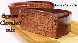 how to make eggless chocolate cake in pressure cooker pressure