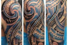 polynesian half sleeve tattoo templates