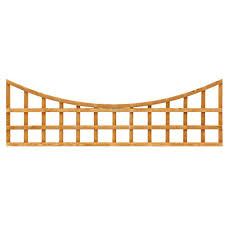 grange bow top wooden trellis panel 0 56m internet gardener