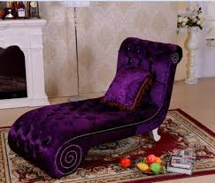 modern royal designs purple color fabric chaise lounge chairs