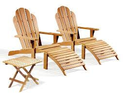 Quality Adirondack Chairs Two Teak Adirondack Chairs With Adirondacks Footrest And Picnic