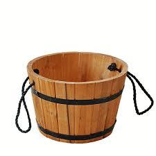 round wooden planter wood barrel planter buy round planter round
