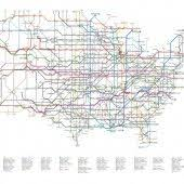 map us interstate system 2004 election map by population density by matt ericson william