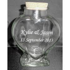 Heart Shaped Sand Ceremony Vase Set Heart Shaped Bottle Size M For Sand Ceremony