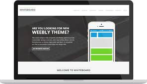 whiteboard premium weebly theme modern web themes