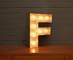light up marquee bulb letters f by goodwin goodwin