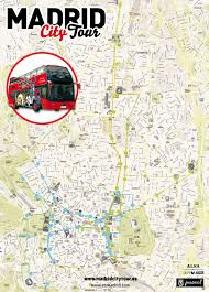 touristic map of map of madrid tourist attractions sightseeing tourist tour