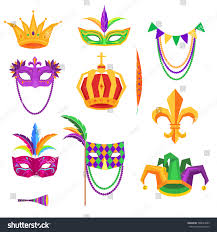 mardi gras crowns mardi gras colorful decorative elements on stock vector 588634085