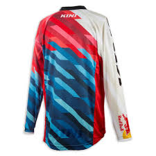 kini motocross gear kini red bull jersey competition pro red blue 2017 maciag offroad