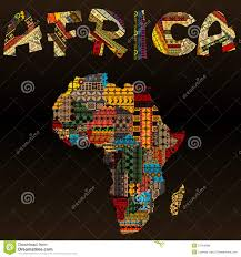 africa map fabric africa map with typography made of patchwork fabric text