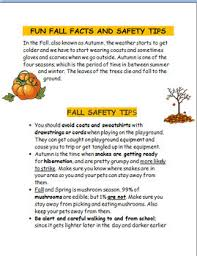fall safety tips and fun facts 3 activities and coloring pages tpt