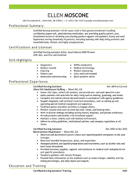 Good Resume Objectives Examples by Nursing Assistant Resume Objective Best Resume Example