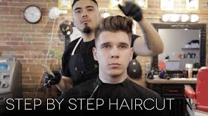 men u0027s step by step faded haircut modern quiff hairstyle for