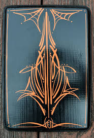 25 best rockabilly home decor ideas on pinterest gothic room black wooden plaque orange pinstriping spiderweb rockabilly home decor by therebelsreverie on etsy