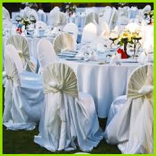 White Banquet Chair Covers Kaiqi Wedding Chair Covers Chair Sashes Candle Holders