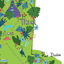 Guatemala World Map by Guatemala Digital Map Print By Steph Marshall Illustration