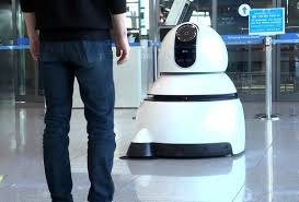 cleaning robots lg s new airport robots will guide you to your gate and clean up