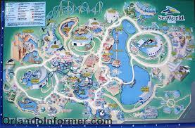 Florida Attractions Map Theme Park Attractions Map Seaworld San Antonio With Sea World