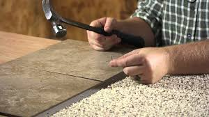 Cut To Fit Bathroom Rugs How To Lay Floor Tile Next To Carpet Flooring Projects Youtube