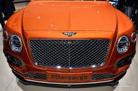 bentley orange interior first edition of bentley unveils bentayga before exclusive vip