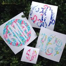 monogram stickers lilly monogram decal