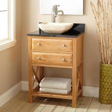 small bathroom sink ideas 24 narrow depth clinton bamboo vessel sink vanity bathroom