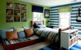 green and blue bedroom cool boys room paint ideas for colorful and brilliant interiors