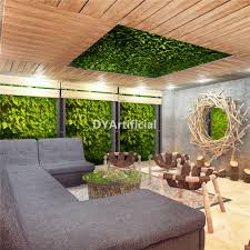 Artificial Plants Home Decor Fake 3d Artificial Green Plants Wall For Hotel Decor Dongyi