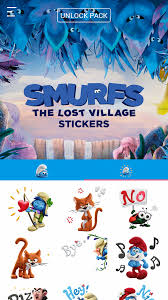smurfs lost village stickers android apps google play