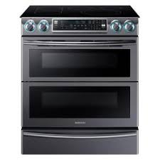 home depot samsung microwave black friday samsung flex duo 5 8 cu ft slide in double oven electric range