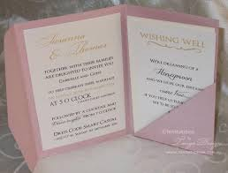 pocketfold invitations gold and pink wedding pocketfold invitations 24 invites rsvp