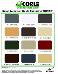 wall and roof panel colors by corle