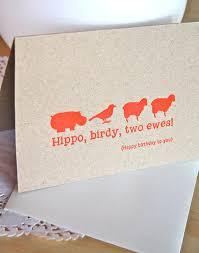In Birthday Card Play On Words 35th Birthday Letterpress Birthday Card In Neon