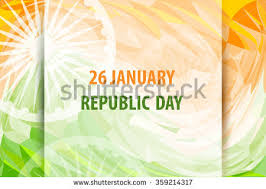republic day india 26 january indian stock vector 359214317