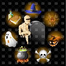 halloween icon background happy halloween poster scary rabbit skull on black background