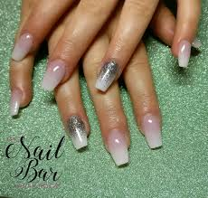 baby boomer acrylic nails with glitter ombre coffin nails my