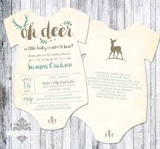 baby boy shower invitation little deer baby by dreamlikemagic